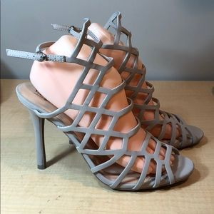 MOSSIMO nude strappy caged high heels sandal